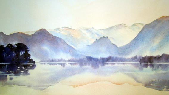 Painted in watercolours by Jane Ward