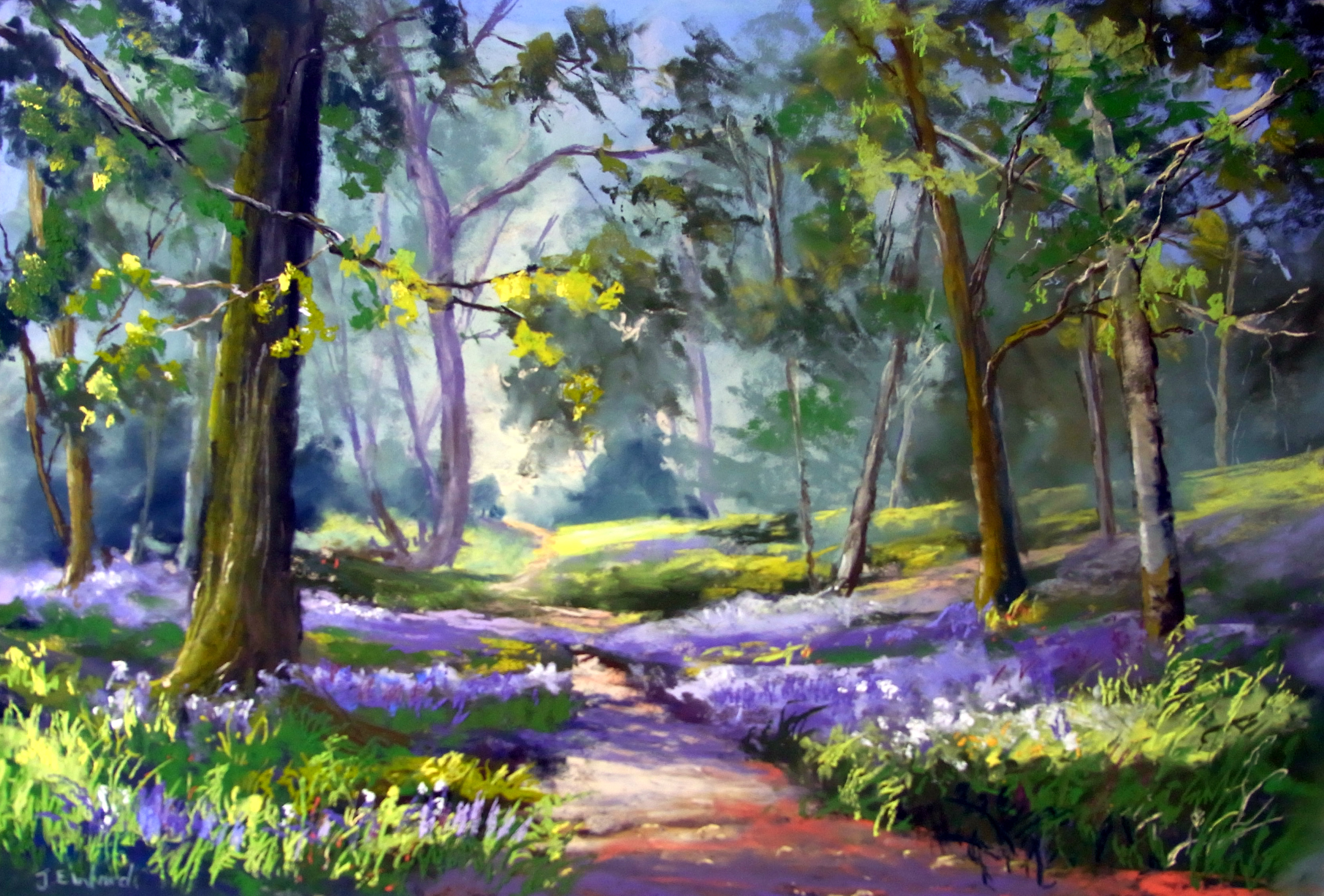 Path In The Woods Painting