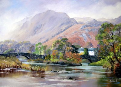 Grange in Borrowdale Canvas Print