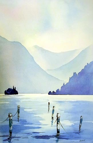 Lake Iseo Watercolour