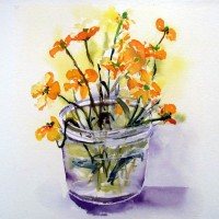 Buttercups watercolour
