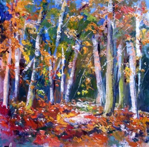 Autumn Glow painted in Oils by Jane Ward
