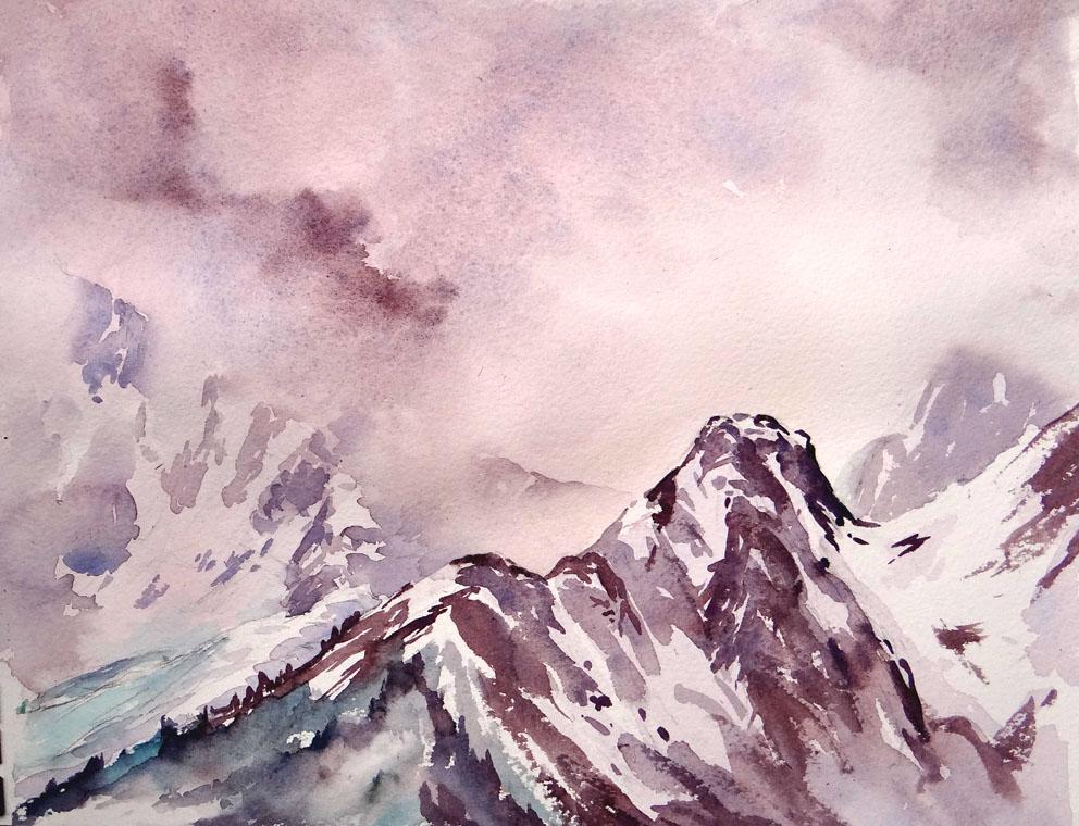 Approaching Storm, Glacier des Bossons