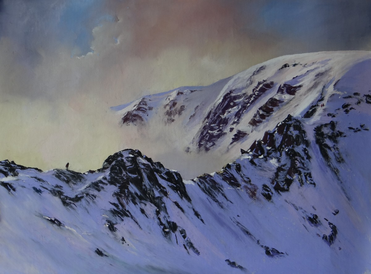 Striding Edge Limited Edition Print