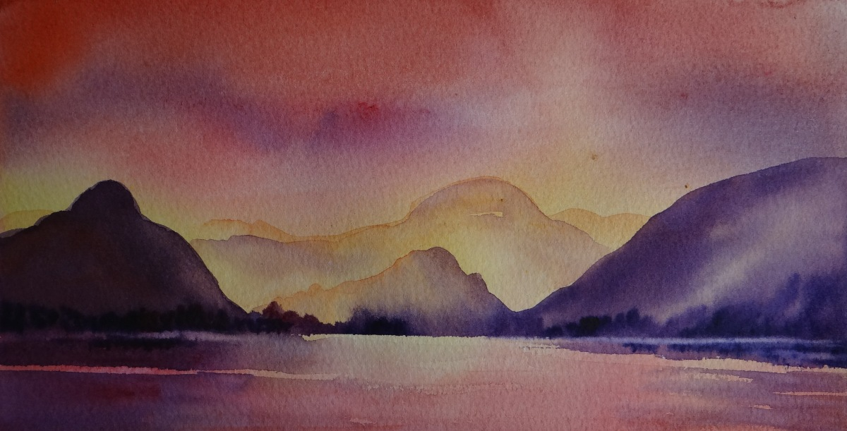 Sunset, Derwentwater