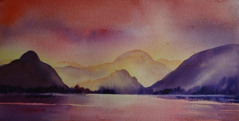 Sunset Derwentwater