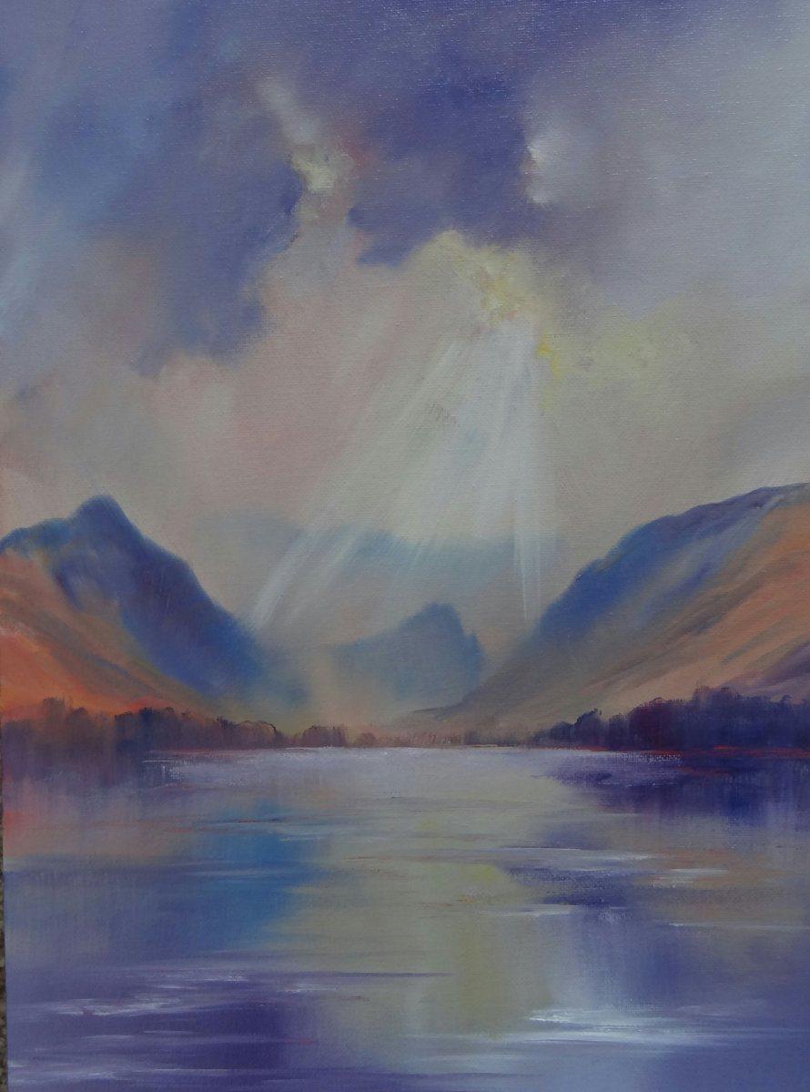 Sunburst Derwentwater Original Painting