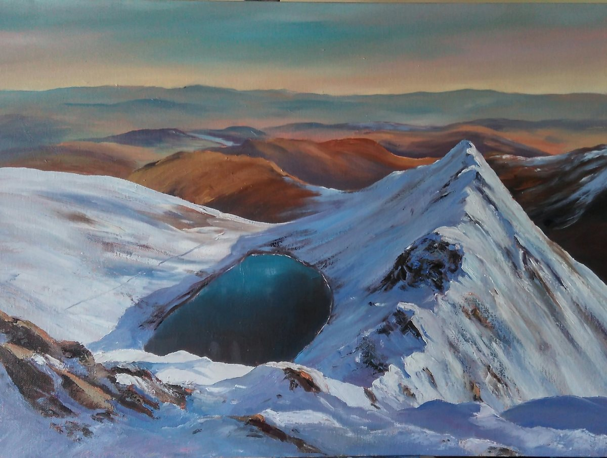 Striding Edge, Helvellyn original oil painting