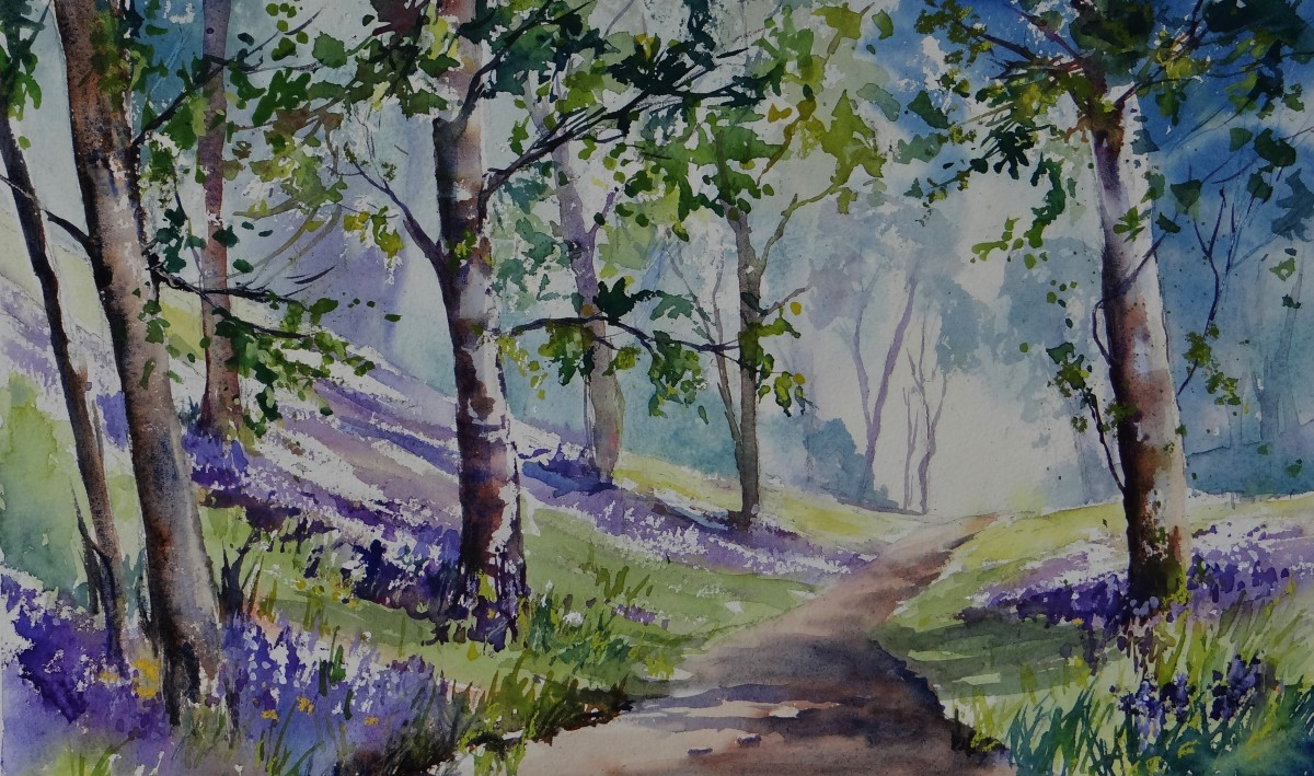Painting Bluebell Woods In Watercolour
