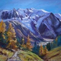 Mont Blanc, Chamonix Original Oil Painting